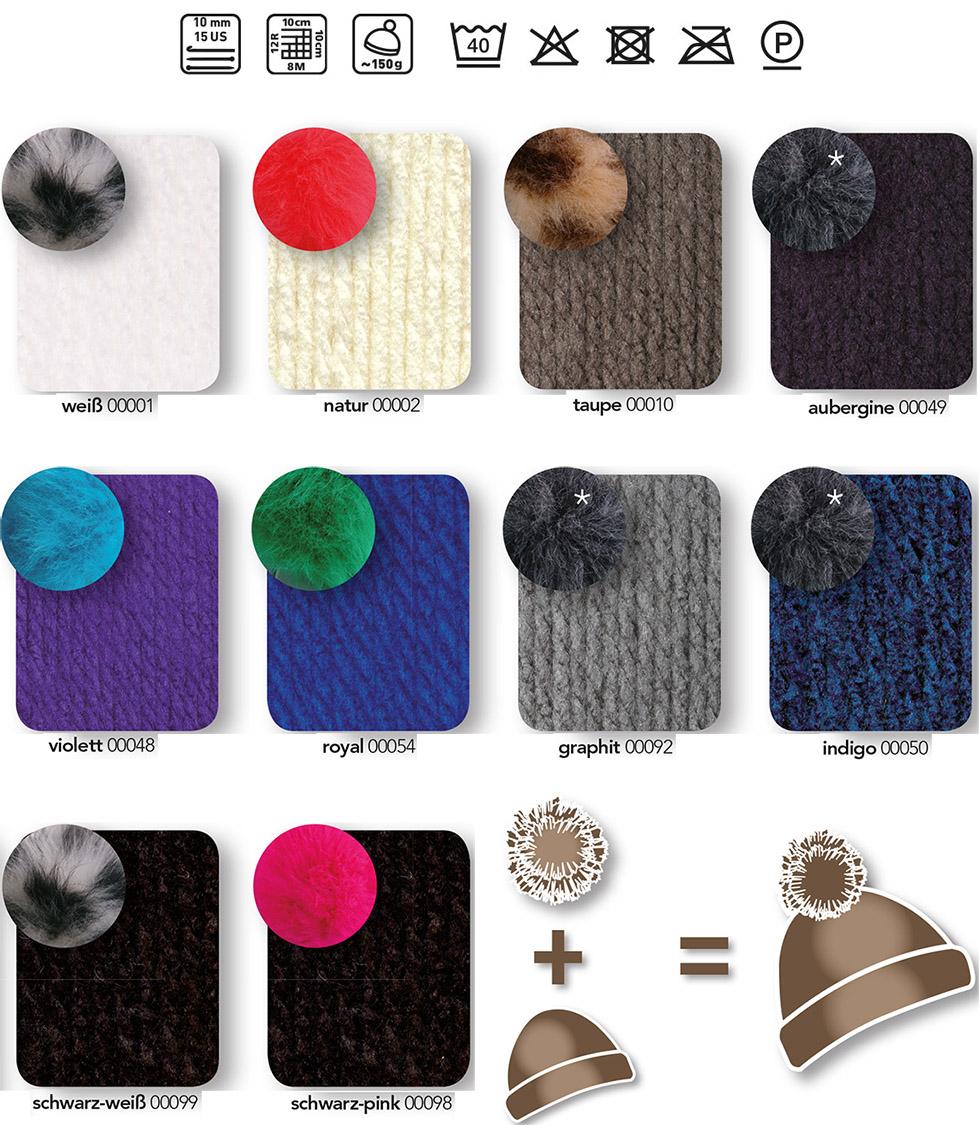 bravo big pompon wolle online bestellen. Black Bedroom Furniture Sets. Home Design Ideas