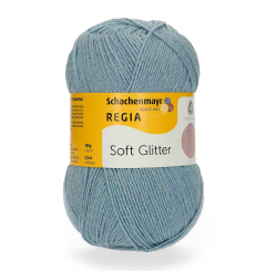 Regia 100g 4-fädig Soft Glitter 00050 light blue