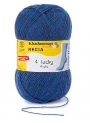 Regia 4-fädig 100g Uni Sockenwolle 01846 bluejeans meliert