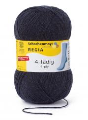 Regia 4-fädig 100g Uni Sockenwolle 01849 dark indigo meliert