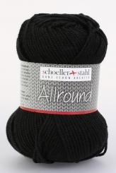 Allround Wolle Schoeller Stahl 02 schwarz