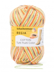 Regia Cotton Tutti Frutti Sockenwolle 100g 4-fädig 2417 papaya color