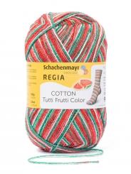 Regia Cotton Tutti Frutti Sockenwolle 100g 4-fädig 2421 wassermelone color