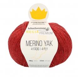 Regia Premium Merino Yak 100gr 4-fädig 07507 himbeer meliert