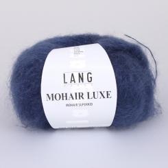 Mohair Luxe Wolle Lang Yarns 010 STAHLBLAU