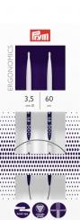 Rundstricknadeln Prym Ergonomics 2,5-12 mm 3,5mm x 60cm