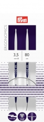 Rundstricknadeln Prym Ergonomics 2,5-12 mm 3,5mm x 80cm