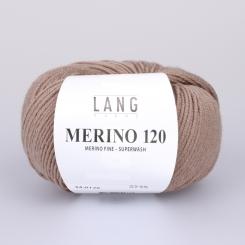 Merino 120 Wolle Lang Yarns 126 GRAUBRAUN