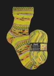 Opal Hundertwasser 1 Sockenwolle 100g-Knäuel 1431-894 Positive Seelenbäume - Negative Menschenhäuser