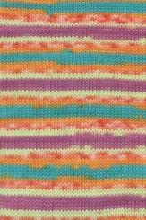 Merino 120 Color Wolle Lang Yarns 150 BUNT ORANGE JACQUARD