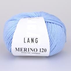 Merino 120 Wolle Lang Yarns 020 HELLBLAU