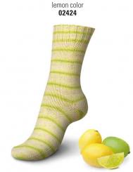 Regia Cotton Tutti Frutti Sockenwolle 100g 4-fädig 2424 lemon