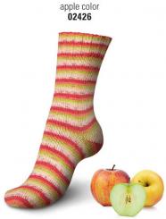 Regia Cotton Tutti Frutti Sockenwolle 100g 4-fädig 2426 apple