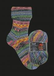 Opal Hundertwasser 3 Sockenwolle 100g-Knäuel 553C - 3202 Use Public Transport - Save the City