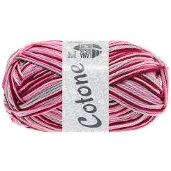 Cotone Print Wolle Lana Grossa 327 Rosa/Pink/Bordeaux/Hellgrau