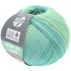 Cool Wool Baby Degrade Wolle Lana Grossa 502 Weißgrün/Pastelltürkis/Lichtgrün