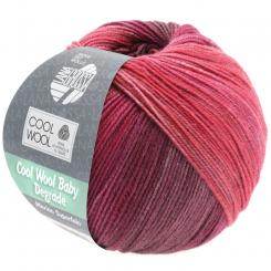 Cool Wool Baby Degrade Wolle Lana Grossa 507 Beere/Antikviolett/Himbeer