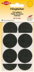 Filzgleiter klein selbstklebend schwarz von Kleiber