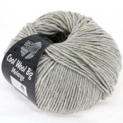 Cool Wool Big Uni und Melange Wolle Lana Grossa 0616 hellgrau meliert
