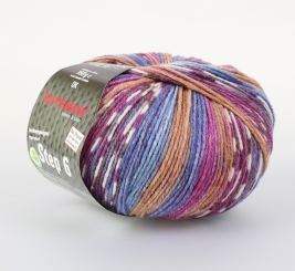 Step 150g 6-fädig Irish Color Sockenwolle Austermann 715 zwetschge