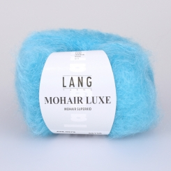 Mohair Luxe Wolle Lang Yarns 079 TÜRKIS