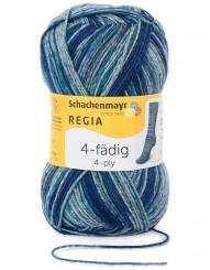 Regia 4-fädig Color Sockenwolle 7966 wild teal color