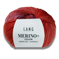 Merino + Color Wolle Lang Yarns 100g Knäuel