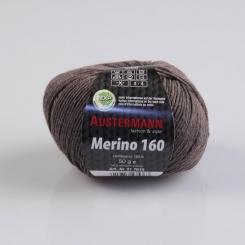 Merino 160 Wolle Austermann 238 braunmeliert