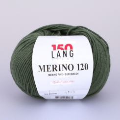 Merino 120 Wolle Lang Yarns 098 OLIVE