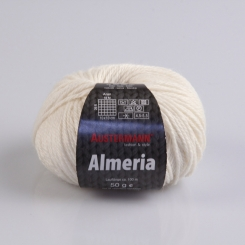 Almeria Wolle Austermann 01 wollweiß