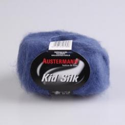 Kid Silk Wolle Austermann 37 taubenblau