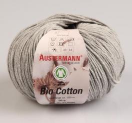 Bio Cotton Wolle Austermann 07 graumeliert
