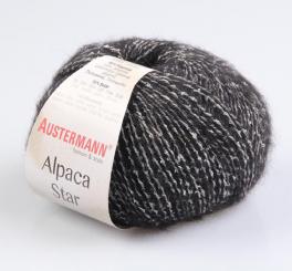Alpaca Star Wolle Austermann 08 schwarz