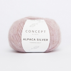Alpaca Silver Wolle von Katia 252 Rosa pastel/Plata