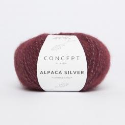 Alpaca Silver Wolle von Katia 259 Burdeos/Plata