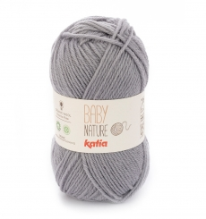 Baby Nature Wolle Katia 110 Gris medio