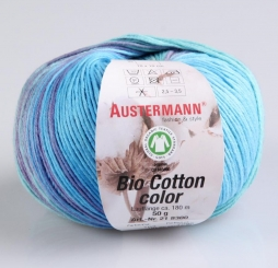 Bio Cotton Color Wolle von Austermann 103 pool