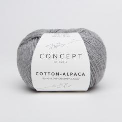 Cotton Alpaca Wolle von Katia 84 Gris melange