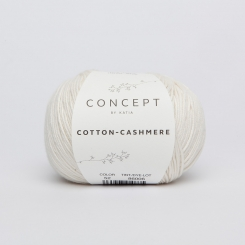 Cotton Cashmere Wolle von Katia 52 Blanco