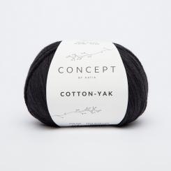 Cotton Yak Wolle von Katia 114 Negro