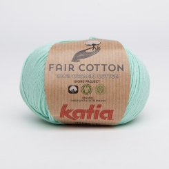 Fair Cotton Organic Wolle von Katia 29 Verde Agua