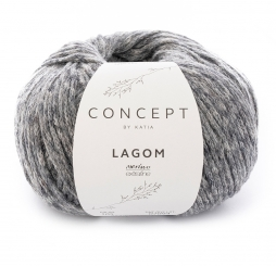 Lagom Wolle Katia Concept 105 Gris Oscuro