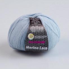 Merino Lace Wolle Austermann 15 hellblaumeliert
