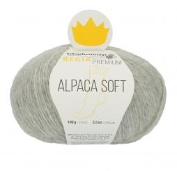 Regia Premium Alpaca Soft Sockenwolle 90 hellgrau meliert