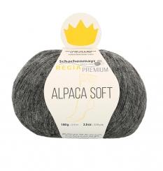 Regia Premium Alpaca Soft Sockenwolle 95 anthrazit meliert