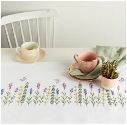 Stickpackung Läufer Lavendelkranz