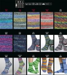 Step 150g 6-fädig Color Sockenwolle Austermann