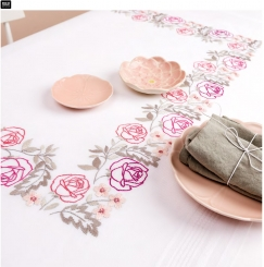 Stickpackung Decke Rosen