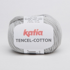 Tencel Cotton Wolle von Katia 08 Gris perla