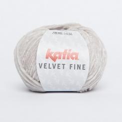 Velvet Fine Wolle von Katia 208 Gris claro